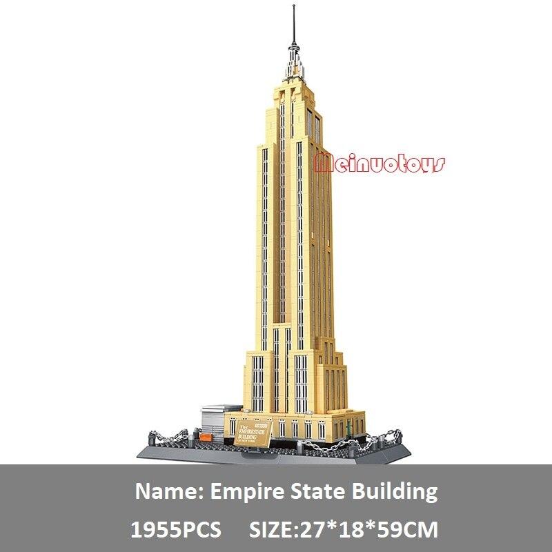 1955 sztuk kreator ekspert klocki zabawki dla dzieci Empire State znane na całym świecie wielki budynek klocki kompatybilny Legoe w Klocki od Zabawki i hobby na AliExpress - 11.11_Double 11Singles' Day 1