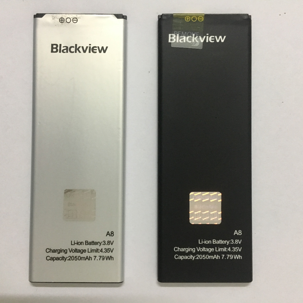 100 Original New Blackview A8 Battery Replacement 2050mAh Li ion Backup Battery For Blackview A8 Smart Phone in Mobile Phone Batteries from Cellphones Telecommunications