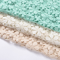 Cotton water soluble lace fabric embroidered wedding dress fabrics