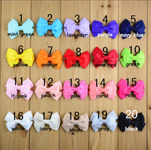 Diy jewelry decoration material 20pcs mix Solid Satin ribbon bowknots/tie shape handmade hair clamps fit garments/hair accessory