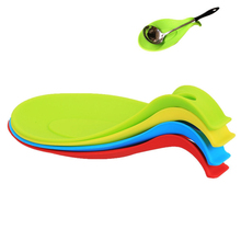 HOT Silicone Spoon Rest Kitchen Heat Resistant Spoon Holder Rack Creative kitchen accessories cooking tools