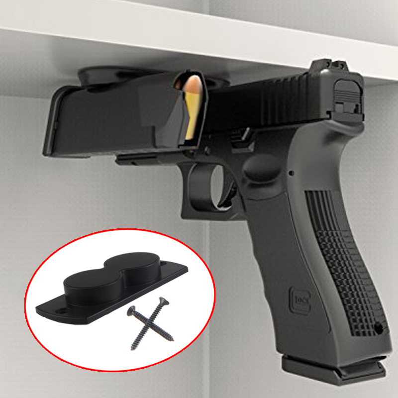 Concealed Magnetic Gun Holder Holster Gun Magnet 25LB Rating For Car Under Table Bedside HT37-0074