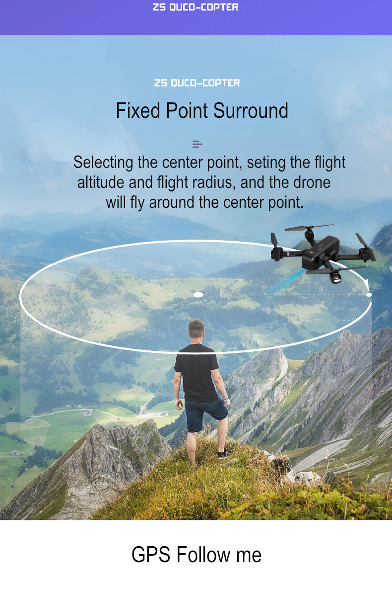 SJ Z5 Drone with Camera 1080P GPS Drone Dron 2.4G/5G RC Helicopter Quadrocopter with Camera Follow Me RC Quadcopter vs XS812 F11 2