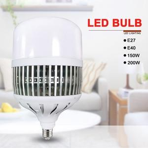 Image 2 - Ampoule 150W/200W LED ampoules E27/E40, très brillante, lampe pour atelier, usine, éclairage dintérieur, cour, M25