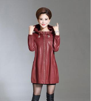 Plus Size XL 2XL 3XL 4XL 5XL Leather Jacket Women Leather Coat Long spring Winter Casual Fashion Ladies Jackets And Coats