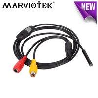 12V NTSC PAL AV ip66 waterproof endoscope mini camera 5.5mm dia 1m/5m/10m/15m/20m Snake Inspection Borescope Endoscope Camera