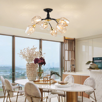Nordic Кристалл светодио дный люстры потолочные гостиная спальня столовая E27 Стекло лампы люстры де cristal современный осветительное оборудован