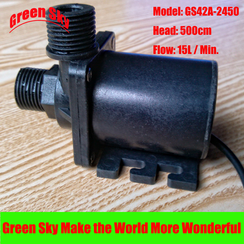 15L Min 500cm Head 24V DC 28 8W Submersible fountain aquarium heating circulation 24v dc brushless water pump in Pumps from Home Improvement