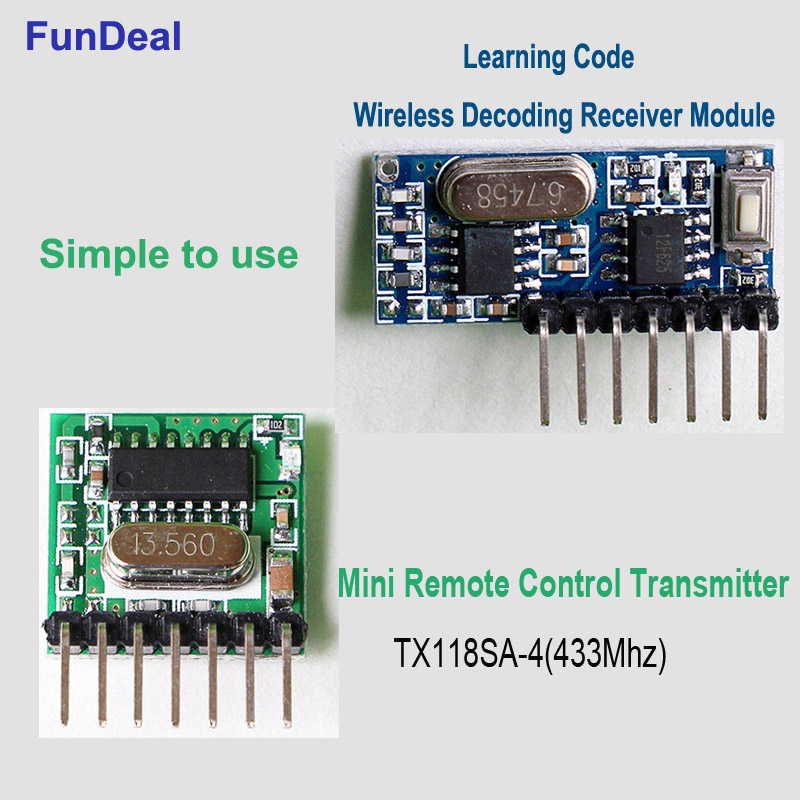 433//315Mhz Wireless Module 4 Channel Output Receiver /& Transmitter EV1527 Code