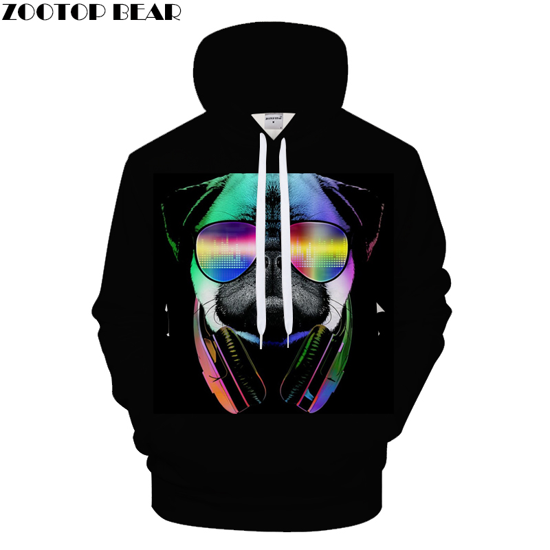 Cartoon Hoodies Dog Hoody Men Sweatshirt Galaxy Pullover Male 3D Autumn Tracksuit Anime 6XL Hooded Streatwear Asian size s-6xl
