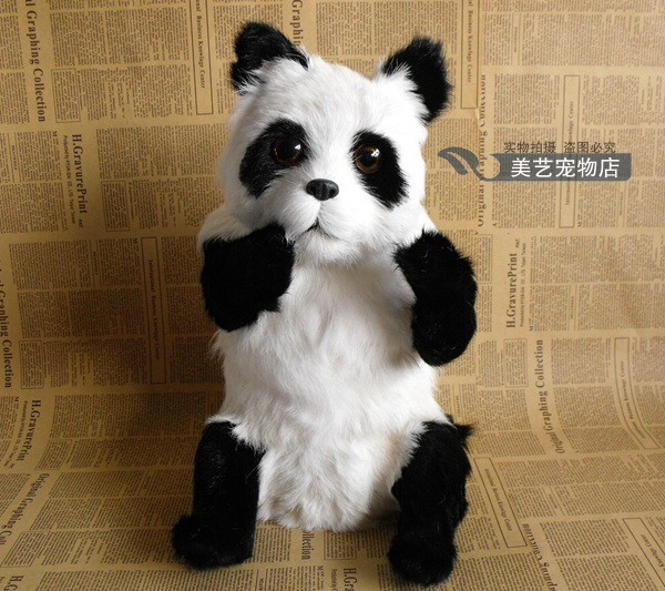 simulation large panda 25x21x38cm toy model polyethylene&furs panda model home decoration props ,model gift d155 large 24x24 cm simulation white cat with yellow head cat model lifelike big head squatting cat model decoration t187