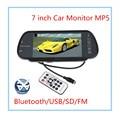 7 Дюймов Цветной TFT LCD MP5 Автомобилей Зеркало Заднего вида Монитор Авто Автомобиль Парковка Монитор Заднего Вида Bluetooth/SD/USB Для Камеры Заднего Вида
