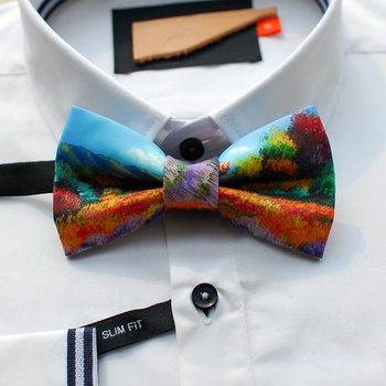 Free shipping new fashion casual men's male design of hand made breath of spring tour quality bow tie gift party wedding groom