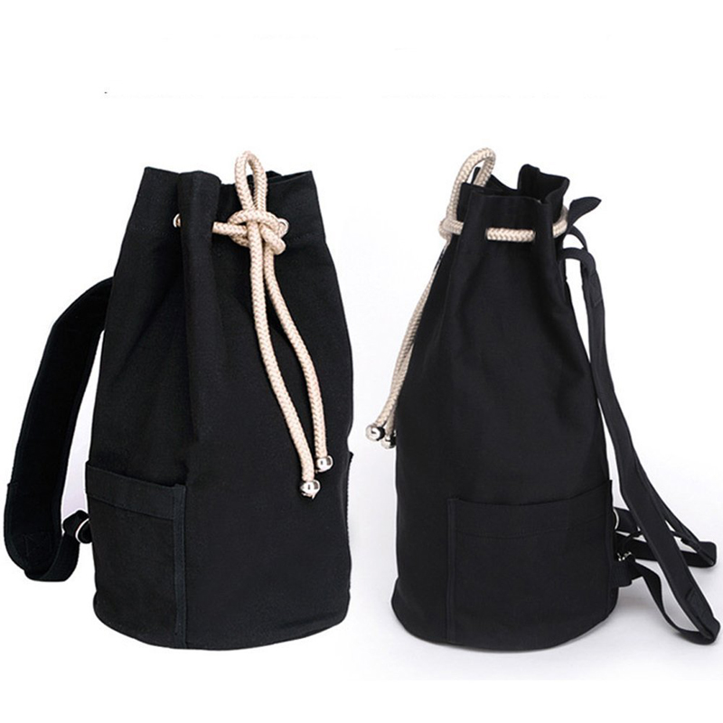Sport Bag Training Gym Men Woman Fitness Bag Vintage Canvas Drawstring Backpack Rucksack Travel Daypack Gym Bag Sac De Sport