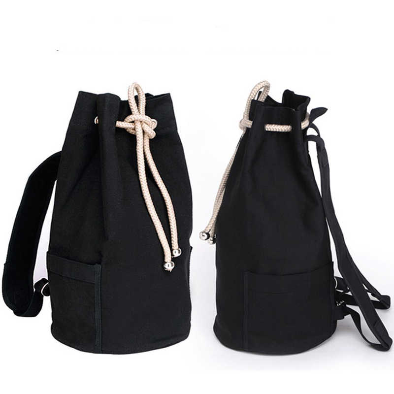 Sport Bag Training Gym Men Woman Fitness Bag Vintage Canvas Drawstring Backpack Rucksack Travel Daypack Gym Bag Sac De Sport