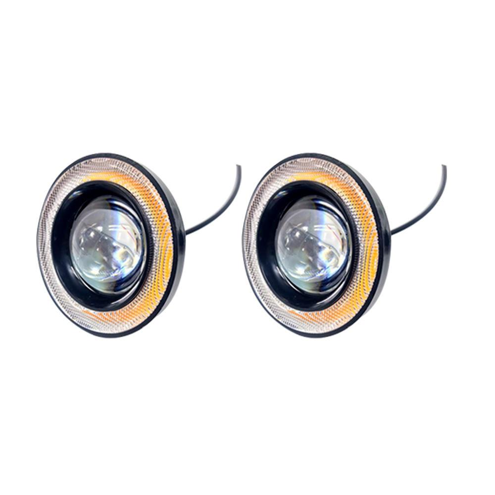 2pcs lot Universal LED COB Fog Lights Car Auto Fog lamp Angel Eyes By Car Light