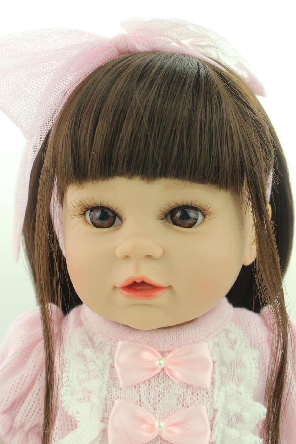 New model Style 16 inches Baby Doll Fat American Girl Design Reborn Living doll Soft Solid Silicone Toys new 23 inches lm230wf5 tld1 1920 x1080 lm230wf5 tld1 lm230wf5tld1 tld2