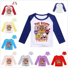 New style Five Night At Freddy kids t shirt fnaf children boy clothing short sleeve baby clothes boy t-shirt kids shirts Tees(China)