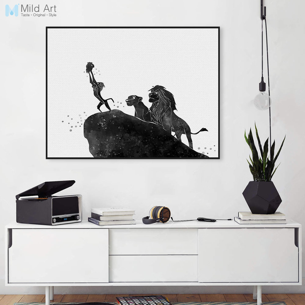 3 Piece Watercolor Black Cat Head Face Animal Posters and Prints ...