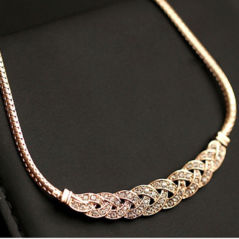 High quality acrylic romantic choker chain necklace new design high quality acrylic romantic choker chain necklace new design spiral costume jewelry female fashion accessories collier femme in choker necklaces from mozeypictures Images