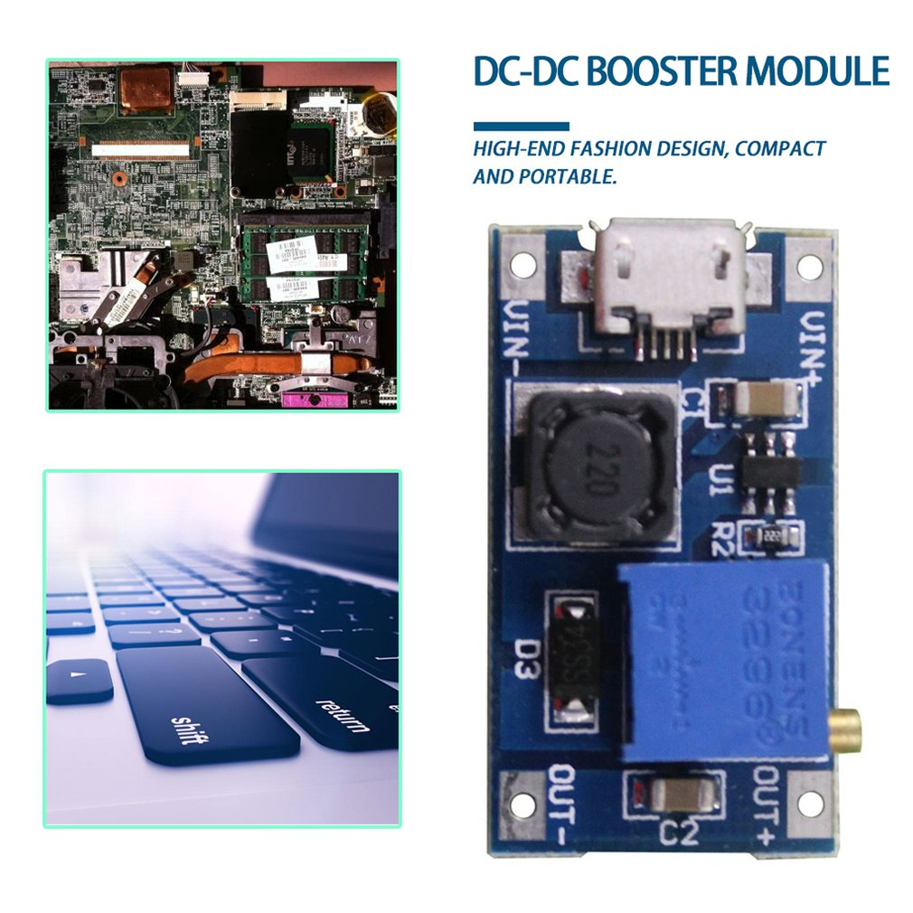MT3608 DC-DC Step Up Converter Booster Power Supply Module Boost Step-up Board MAX output 28V 2A(China)