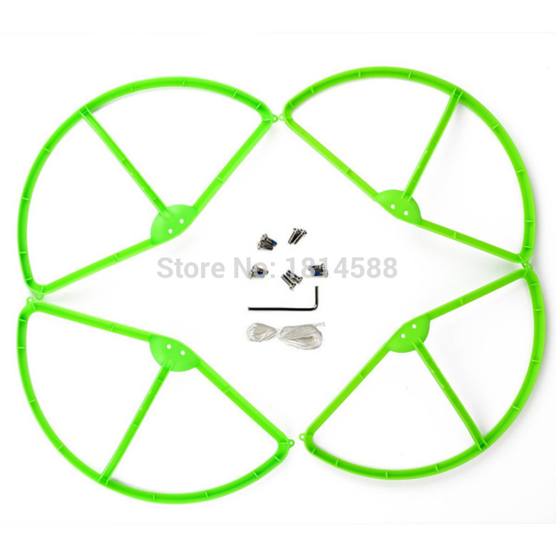 DJI Phantom 3 aerial four axis aircraft blade protection ring propeller protector WLtoys V303 green protective ring parts