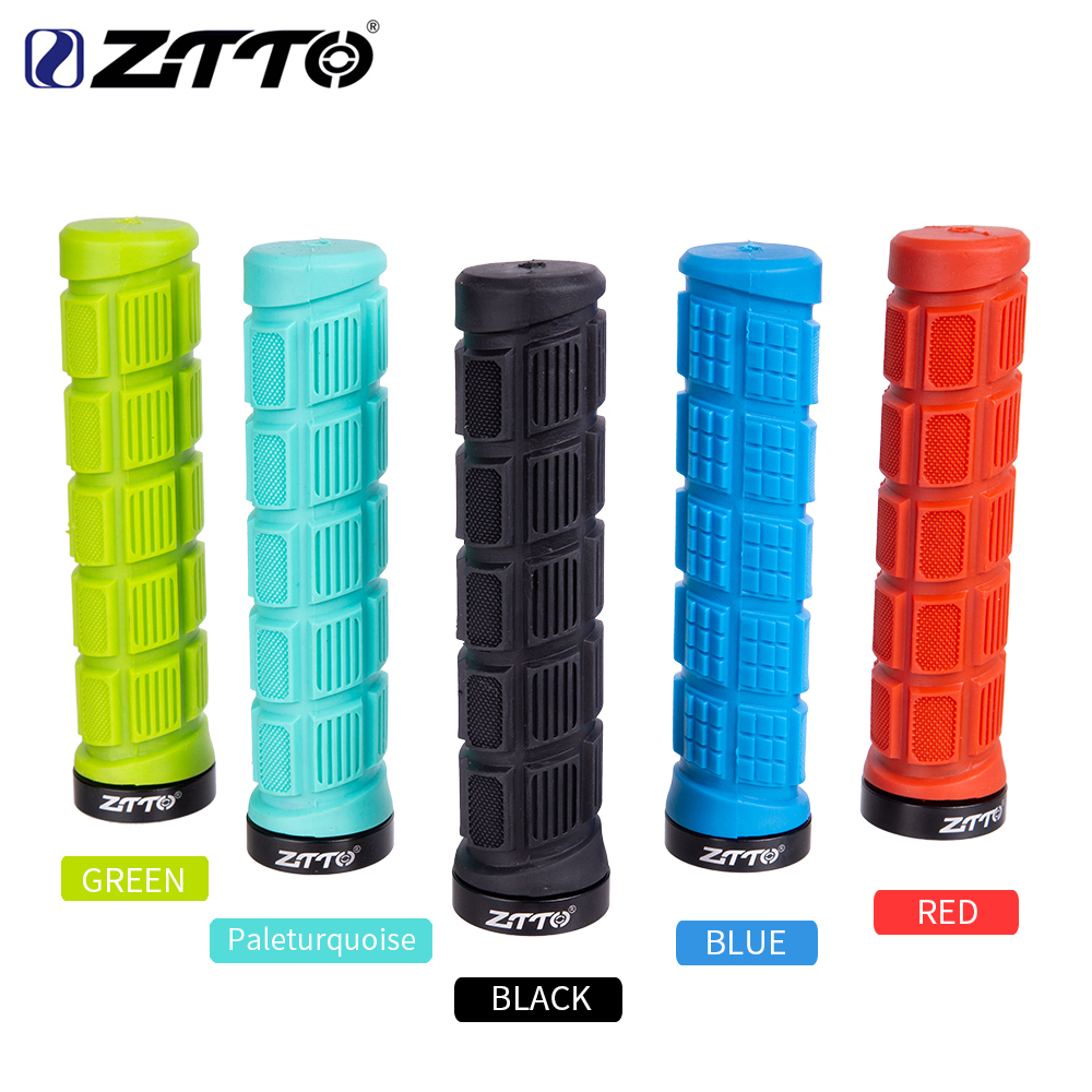 ZTTO Bicycle Handlebar Set MTB  Bike Handlebar Handle Bicycle Lock Handle Durable BMX Rubber Handle Slip Parts 1 Pair AG38