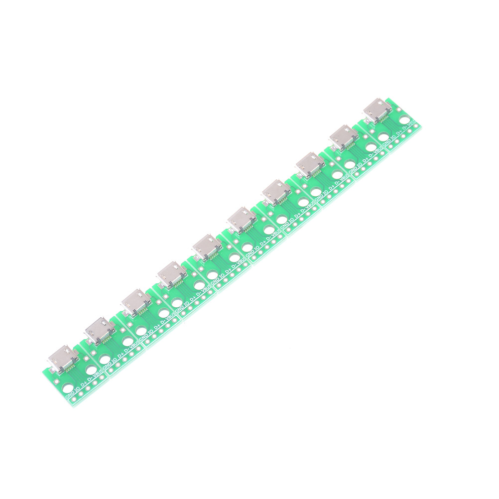 10pcs Mini <font><b>Micro</b></font> <font><b>USB</b></font> to DIP 2.54mm Adapter <font><b>Connector</b></font> Module Board Panel Female 5-Pin Pinboard 2.54mm <font><b>Micro</b></font> <font><b>USB</b></font> <font><b>PCB</b></font> Type Parts image