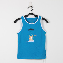 Free Shipping ! Original Designed Fashion Premium 100%Cotton Jersey with Cartoon Character Print boy's tank . Exclusive !