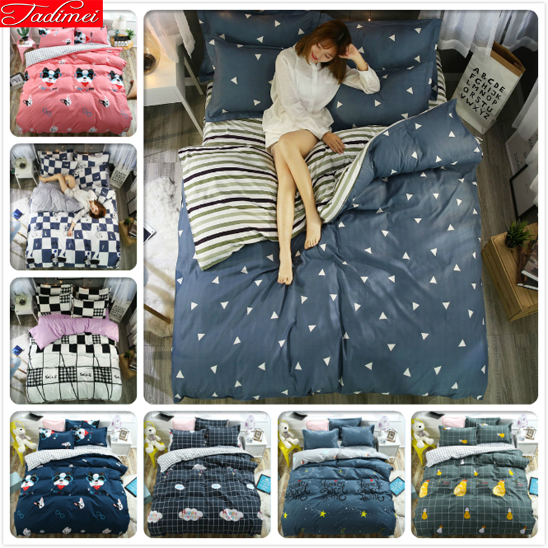 150x200 180x220 200x230 220x240 Quilt Duvet Cover 3/4pcs Bedding Set Adult Kids Child Soft Bed Linen Single Full Queen King Size