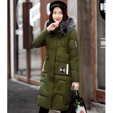 Thickening Long Warm Women Parkas Cotton Padded 2017 New Luxury Large Fur Women Winter Coat Snow Wear Hooded Female Jacket FY03
