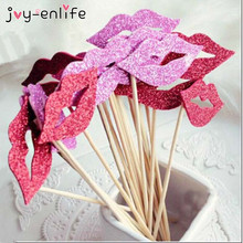 JOY-ENLIFE Cheap 10pcs/bag Fashion Funny Lip Eva DIY Photo Booth Props Baby Shower Kid's Birthday Party Wedding Decor Supplies