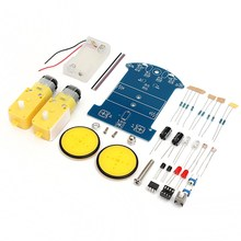 New Arrival DIY Smart Tracking Robot Car Electronic Kit With Reduction Motor Set