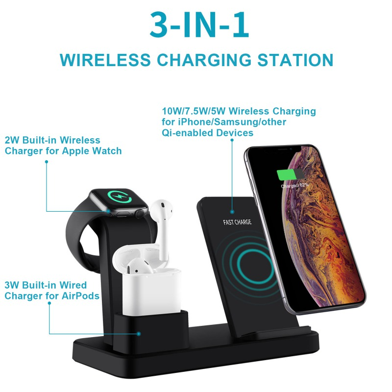 Apple Wireless multiple device charging station 3-in-1