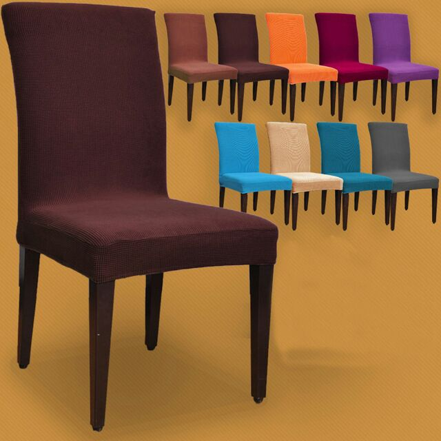 New fashion high back cotton elastic chair cover dining for Housse couverture