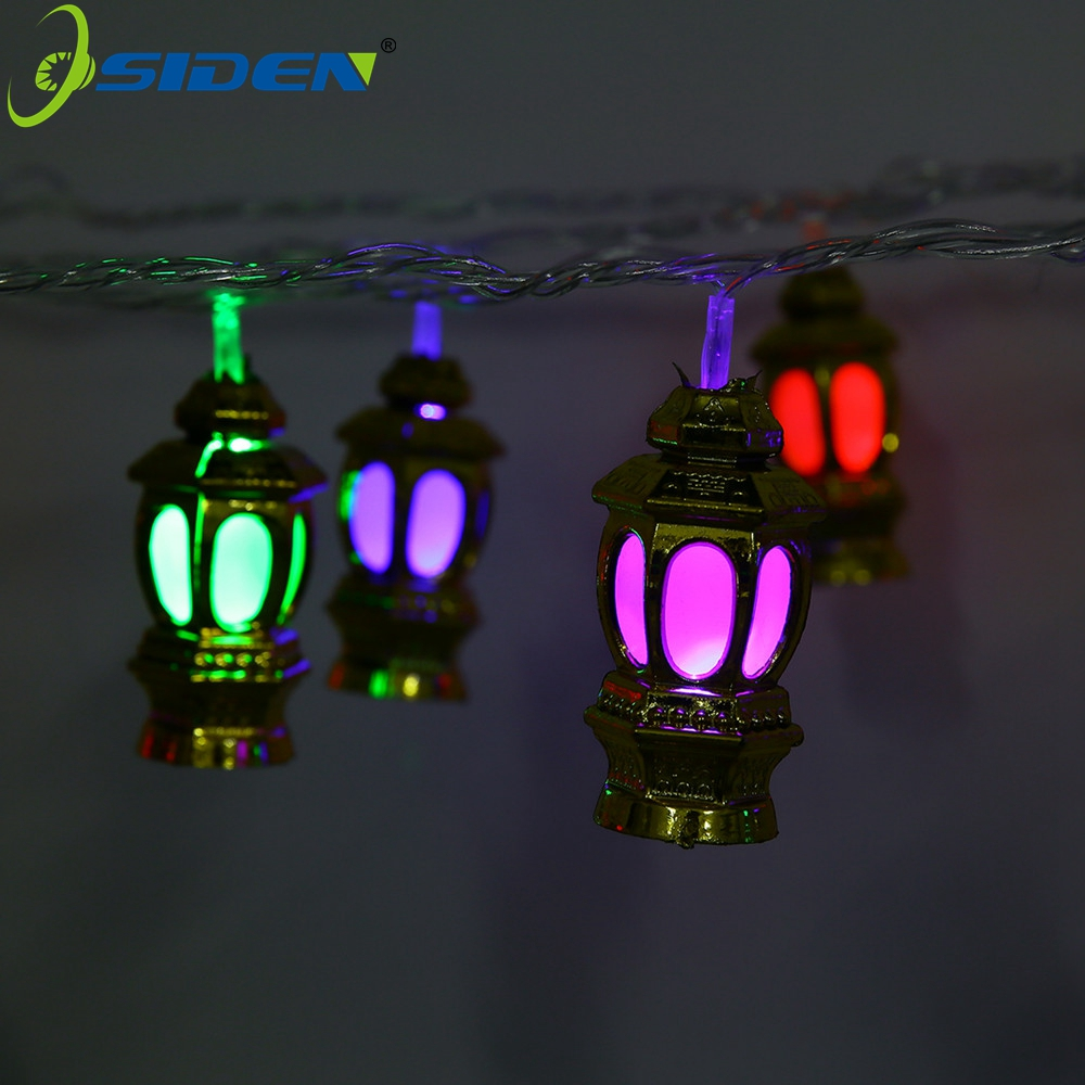 OSIDEN RGB 20 LED Palace lantern New Year Holiday String lights AC220V 5M With EU Plug Fariy xmas Decortive Lamp Indoor Outdoor