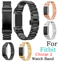 Fashion Stainless Steel Replacement Band For Fitbit Charge 2 Heart Rate Activity Tracker Smart Wristband Bracelet Wearable Strap
