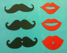ФОТО free shipping 1000pcs/lot black moustache decoration with hole use for paper straw in party & wedding items