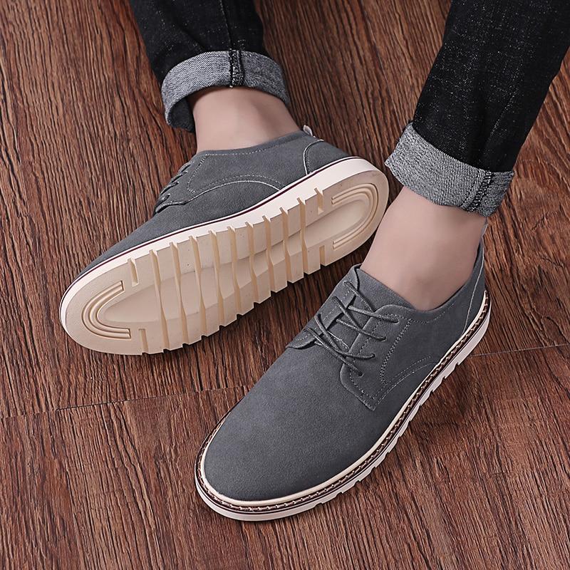 suede     Leather   Loafers shoes Men brand Designer Casual Men Shoes breathable Lace Up Shoes Men Classic Fashion Male Shoes L5