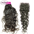 10A Peruvian Virgin Hair Natural Wave With Closure Italian Curly 4 Bundles Peruvian Natural Wave With Closure Human Hair Bundles