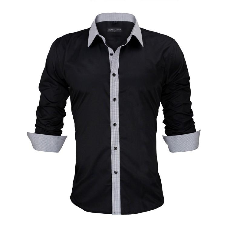 HTB1JqtKKVXXXXa7aXXXq6xXFXXXc - New Arrivals Slim Fit Male Shirt Solid Long Sleeve British Style Cotton Men's Shirt N332