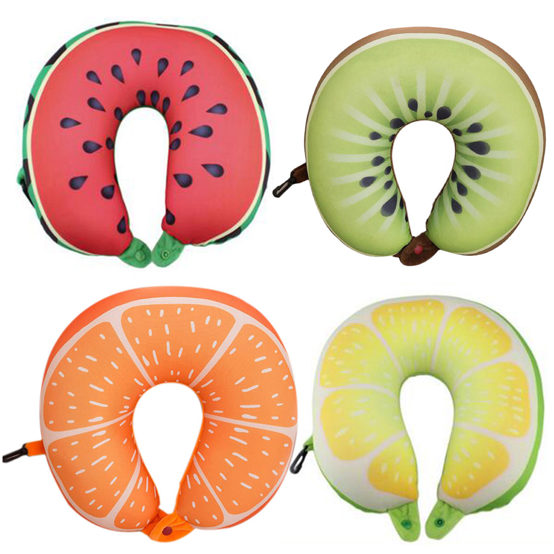 3D Fruit U Shaped Pillow Cushion Neck Protection Soft Car Airplane Travel Massage Pillow Neck Support Cushion image