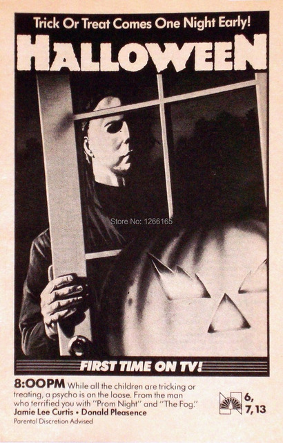 halloween movie poster horror michael myers john carpenter rare home decoration 12x18 24x36 inch - Michael Myers Halloween Decorations