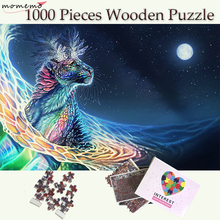 MOMEMO Magical Animals In The Moonlight 1000 Pieces Wooden Puzzle Jigsaw Puzzle Fantasy Pattern Puzzles for Adults Teenagers Toy wooden puzzle djeco autumn in the woods