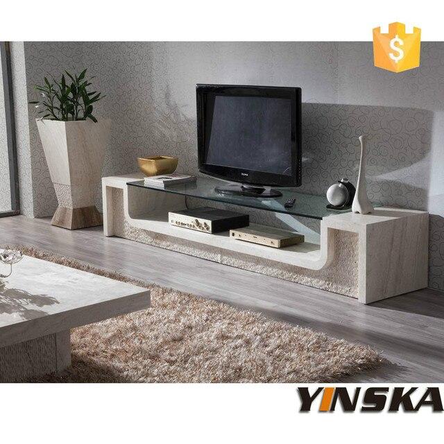 Mobilier moderne, Meuble tv, Pierre marbre meuble tv pour salon dans ...