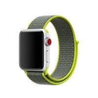 fohuas легкий дышащий материал нейлон спортивные Petit реванш для Apple часы серии 3 2 1 42 мм 38 мм для iwatch от реванш для часов спортивные Пти