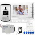 Chuangkesafe - New 7 inch Video Intercom Door Phone System 1 Monitor + 1 RFID Access Doorbell Camera + Remote Control In Stock