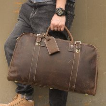 Men's Travel Duffle Bags Real Leather  17