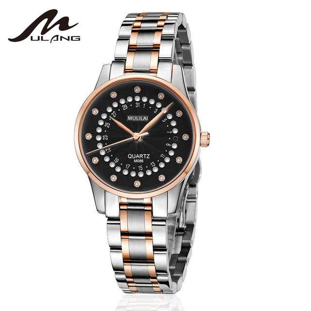 New Women's Watch Luxury Brand Rotating Calendar Quartz Wristwatches Women's Rhinestone Starry Rose Steel Watch relogio femenino 5