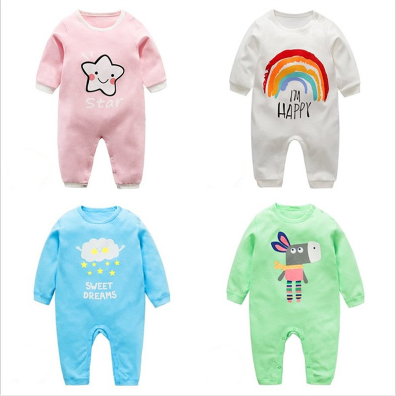 Baby   Romper   Spring Long Sleeves Baby Clothes Coldker Cartoon Newborn Boys Clothing Costume Cotton Overalls for Children Onesie